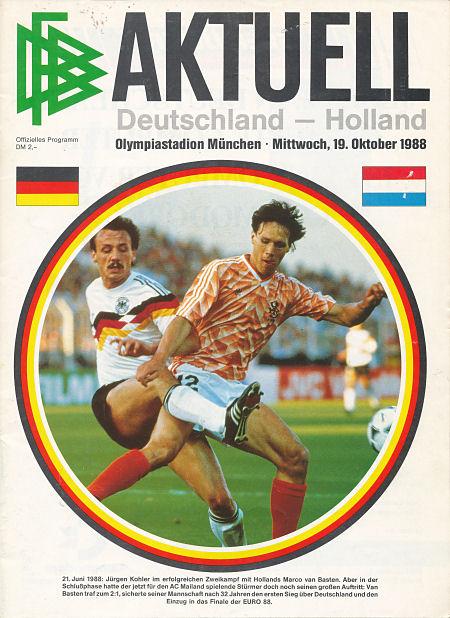 Opstellingen West Duitsland Nederland 0 0 19 10 1988 Wkkw